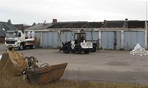 Die alte Busgarage ist fast Geschichte.