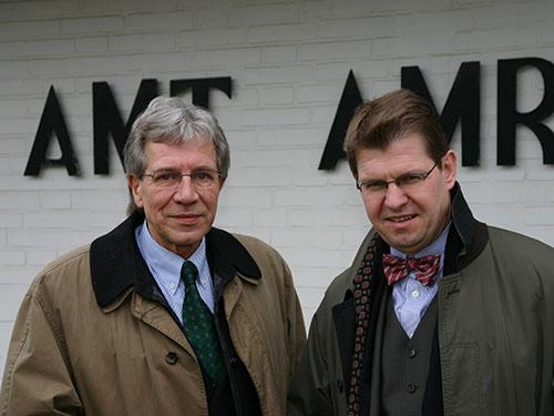 Jürgen Jungclaus - ehem. Amtsvorsteher des Amtes Amrum, Ralf Stegner - ehem. Innenminister von Schleswig-Holstein