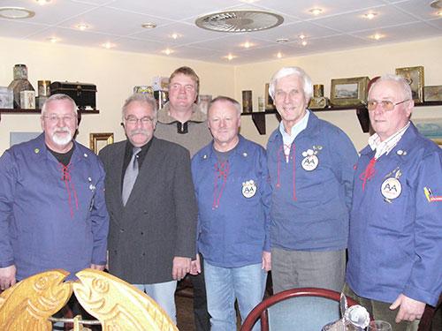 v.l.:Hans-Ulrich Petersen, Jürgen Töllner, Jörg Keggenhoff, Erwin Meinert, Gert Grevenitz, Heinz-Werner Hansen, Volkert Lucke