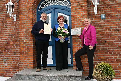 v.l.:Jürgen Jöns, Renate Peters, Angelika Hesse