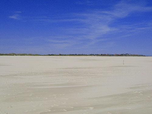 Der Kniepsand in Wittdün, ist der breiteste Sandstrand Europas