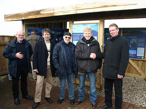 vl. Dieter Karlisch, Armin Jeß, Jens Quedens, Detlef Hansen, Heinrich Johannsen