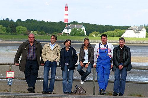 Das Team... Peter Lückel, Michael Hoff, Carmen Klein, Kinka Tadsen, Thomas Oelers, Chris Johannsen
