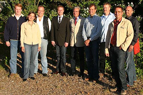 v.l. Lars Hansen, Carmen Klein, Harry Jensen, Heiko Müller, Jürgen Jungclaus, Christian Klüßendorf, Bernd Zimmermann, Ralf Klein, Boris Potthoff