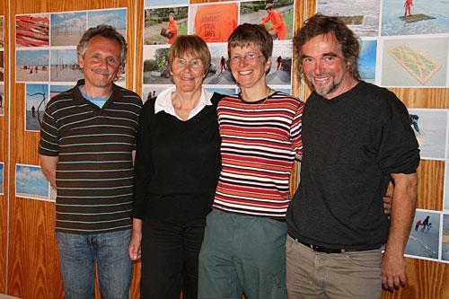 Joachim Mocka, Margit Huch, Andrea Staroske und Arno Neufeld