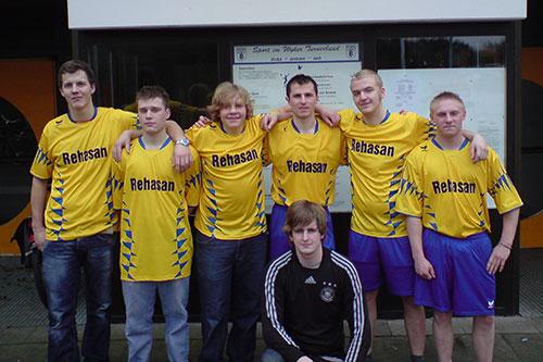 Jörg Lund, Philipp Jensen, Henning Bruns, Tomasz Manka, Patrick Jannen (unten), Andreas Konrad, Marten Meinerts