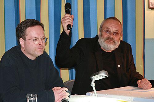 Christian Maintz und Harry Rowohlt