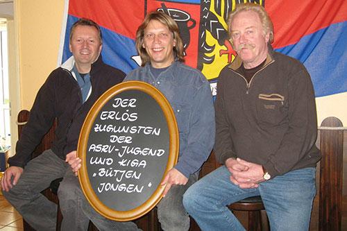 vl. Sven v.d. Weppen, Kalle Piel, Klaus Herder