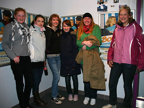vl. Rieke Lückel, Laura Lemcke, Stine Knauer, MAren Lemcke, Janice Faßmers, Franziska Plewnia