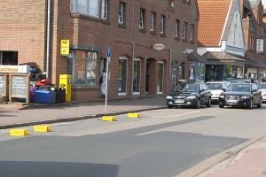 Nicht erlaubt...Platzhalter auf der Strasse