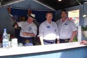 Verwöhnten die Gäste... Freddie Flor, Hans-Peter Traulsen, Karsten Schult
