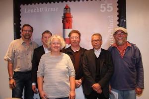 von rechts...Wolfgang Stöck, Michael Langenhan, Georg Neisen, Heike Zimmermann, Chris Johannsen und Norbert Gades