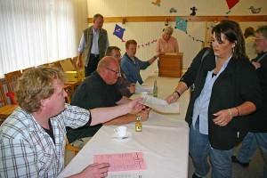 Wahl im Wittdüner Wahllokal
