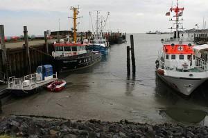 Hafenbecken bei Niedrigwasser