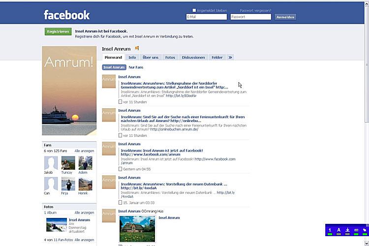 amrum hat eine eigene facebook seite to. Black Bedroom Furniture Sets. Home Design Ideas
