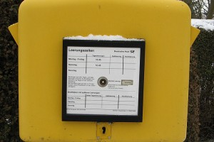 Briefkasten in Nebel... kein Hinweis!