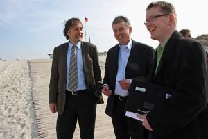 vl. Martin Hamm, Chris Johannsen, Momme Zuppelli