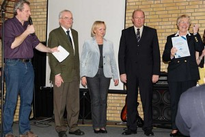 v.l. Carsten Kock, Erk Hassold, Caroline Schwarz, Dieter Harrsen und Gerda Hansen