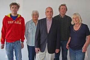 vl. Mats Bohn, Renate Matzen, C-H Klüßendorf, Arfst Bohn, Freya Paulsen