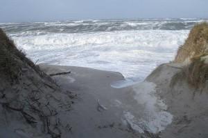 Hier zeigt die Nordsee ihre Macht...