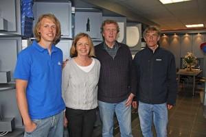 vl. Morten übernimmt den Betrieb in 5 Jahren, Anke, Arfst und Mats Bohn