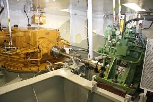 Kernstück der neuen Antriebstechnik sind die Voith Schneider Antriebe über Welle angetrieben