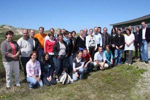 Die Teilnehmer der 7 Summer School an der Sattelndünen-Schule...