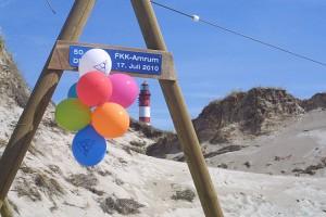 Die Luftballons kündigen es an...