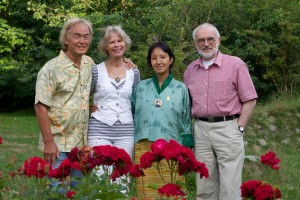 v.l.n.r: Hans Wessing, Kerstin Quedens, Tashi Chhoden und Jens Quedens
