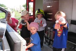 Feuerwehr finden Kinder toll...