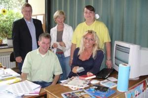 vorne v.l.: Michael Drauz, Frauke Jensen, hinten v.l.: Hans-Peter Traulsen, Annette Isemann, Claudia Ebsen