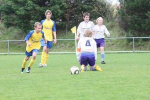 Machte eine starke Partie: Amrums Mats Klein (vorne links) von der C-Jugend