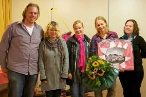 v.l. Tobias Lankers, Susanne Jensen, Miriam Traulsen, Nicole Hesse und Katrin Schmale