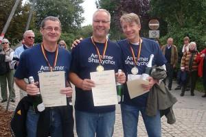 """Amrumer """"Shantychor-Trio""""  v.l. Peter Totzauer, Dirk Dümmel und Stephan Schlichting"""
