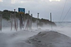 Strandübergang Nebel