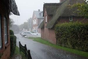 Sintflutartige  Regenschauer...