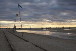 Der Strand leert sich...