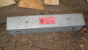 Empfohlene Behälter für Rattengift...