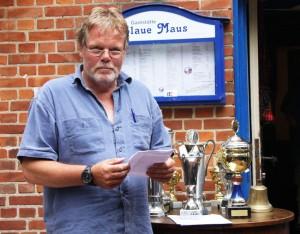 Heino Röh bei der Pokalvergabe 2009