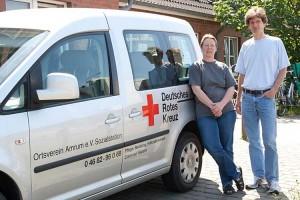 Eike Paulsen und Pflegedienstleiter der Sozialstation Norbert Michels