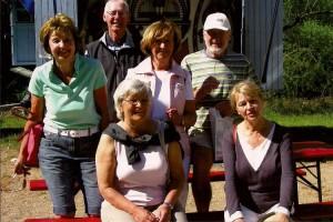 Hinten: Ricklef Flor, Peter Siebert,  - Mitte: Rita Schult, Maren Sliwka, - sitzend: Hanne Jöns, Anke Petersen
