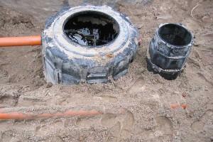 Einbau des Fettabscheiders und Probenschacht verursachen Mehraufwand bei der Abwasserinstallation...