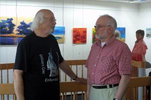 Dieter Utermöhlen (links) im Gespräch mit Jens Quedens