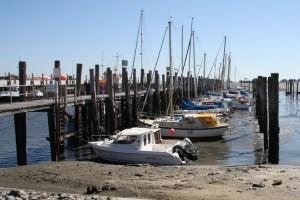 Ab 2012 ist das umständliche an Bord kommen bei Niedrigwasser vorbei...