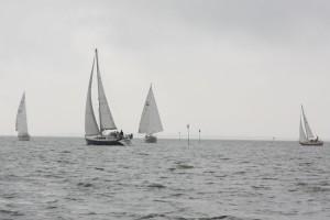 """Statt """"Amrum Rum"""" war für die großen Schiffe die Wendemarke Höhe Utersum"""