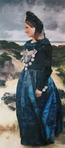 Frau Heiß in Friesentracht
