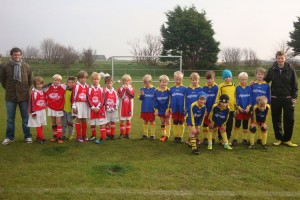 Die F-Jugend vor dem Spiel