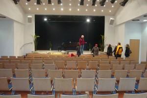 Besichtigung des modernen Veranstaltungssaals im Dünen-Hus