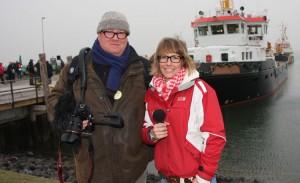Kinka Tadsen und Peter Lückel unmittelbar vor ihrem ersten Video-Einsatz...