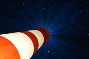 Beeindruckend... der Leuchtturm bei Nacht